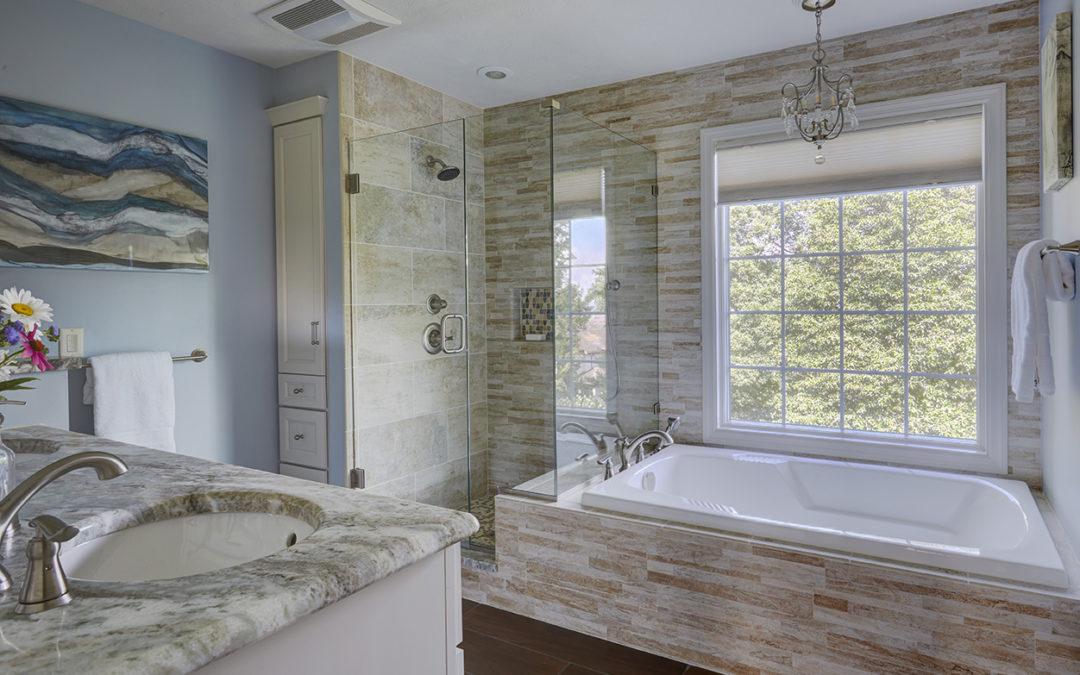 Master Bath with Custom Glass Shower